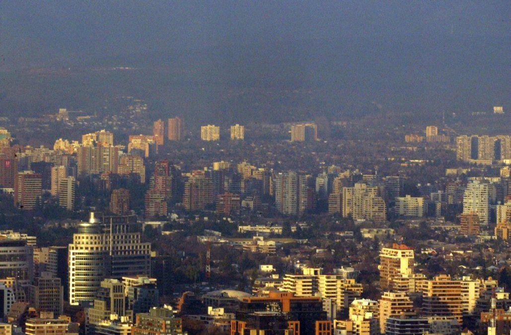 Vista panorámica de Santiago de Chile. AFP