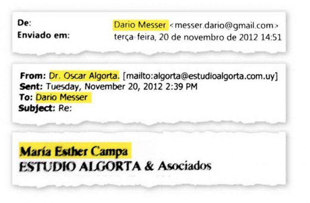 Mail de Messer al estudio Algorta