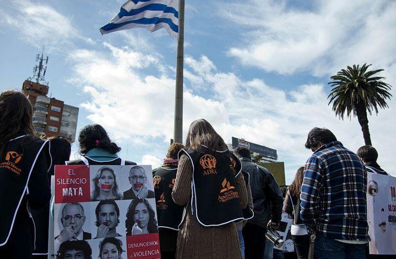 Un acto contra la violencia en 2013 en Plaza de la Bandera
