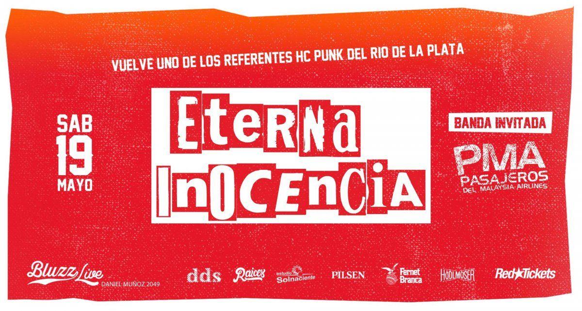 Eterna Inocencia vuelve a Uruguay y se presenta en Bluzz Live