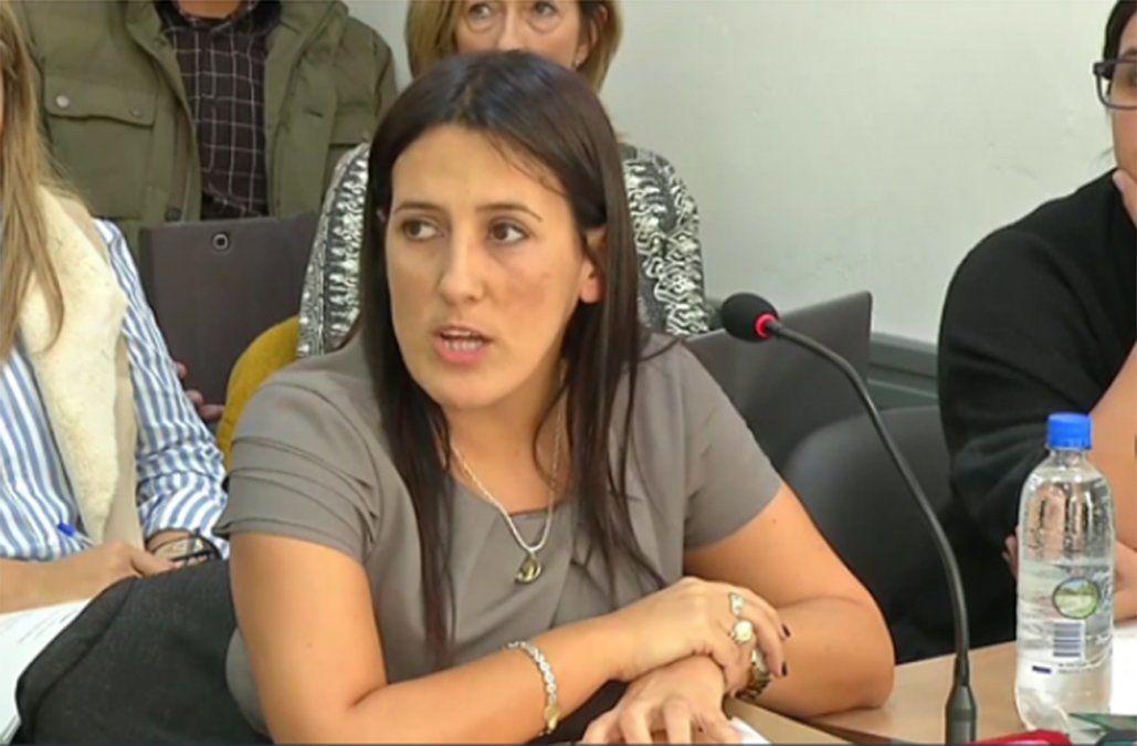 FOTO: fiscal Verónica Bujarín.