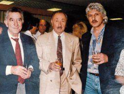 Velarde González con Liber Sergni y Reinaldo Gargano.