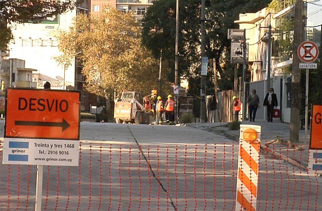 Nuevos desvíos y flechamientos de calles por segundo tramo de obras en Avenida Italia