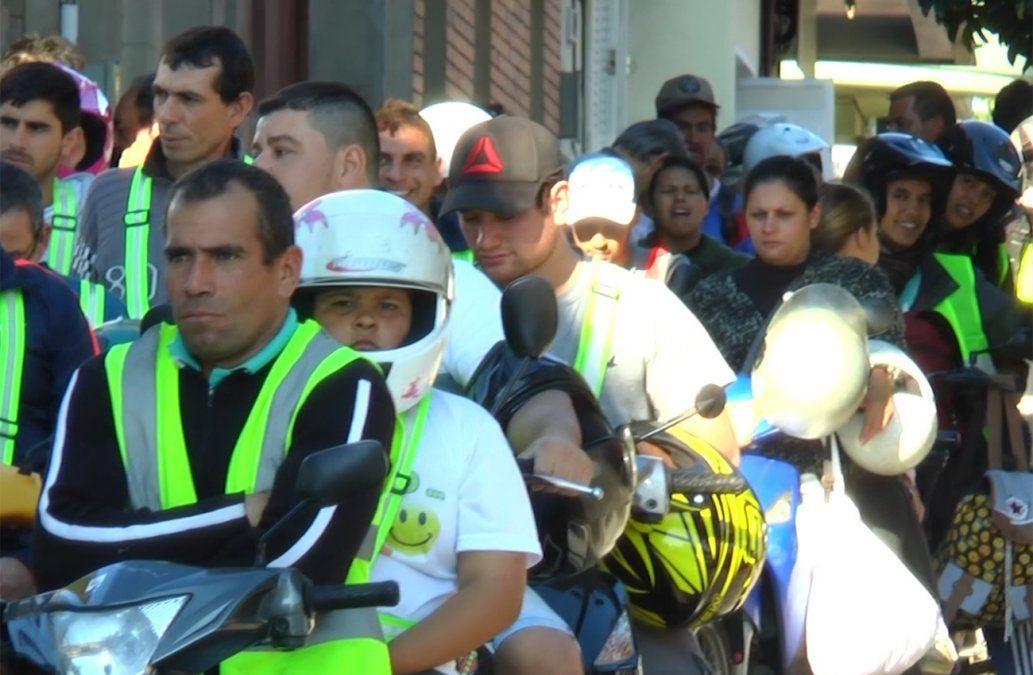 Largas colas para comprar combustible en Rivera ante escasez en Brasil