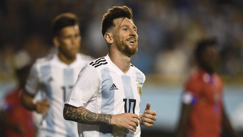 Lionel Messi hizo tres goles por sexta vez en su carrera con la selección argentina.