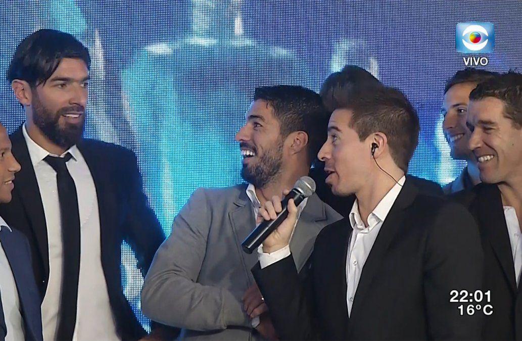 Jugadores de la Selección Uruguaya en la gala de la Fundación Celeste