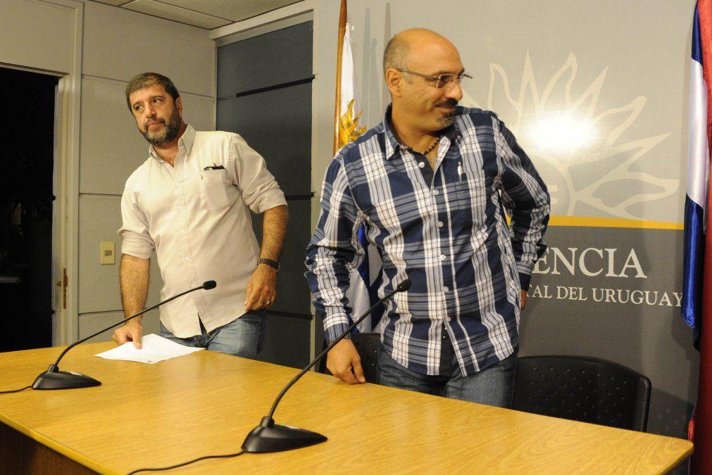 Marcelo Abada y Fernando Pereira del PIT-CNT