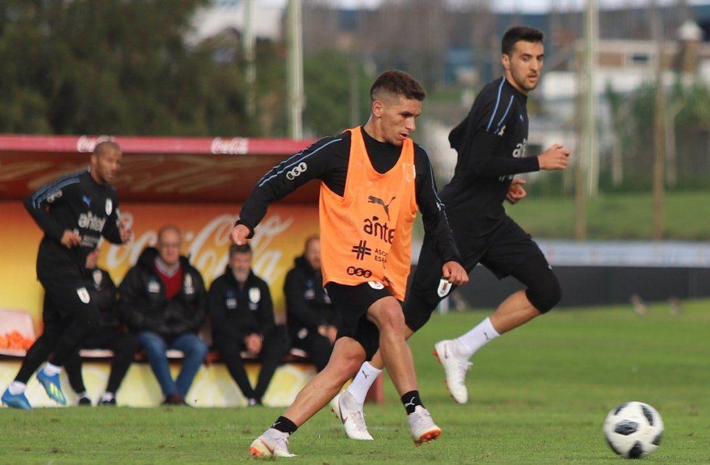 Torreira y Matías Vecino (foto: Selección Uruguaya en Twitter).