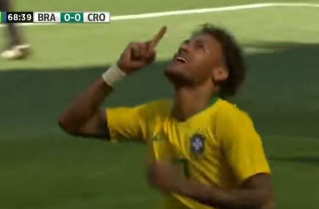 Neymar festeja su golazo