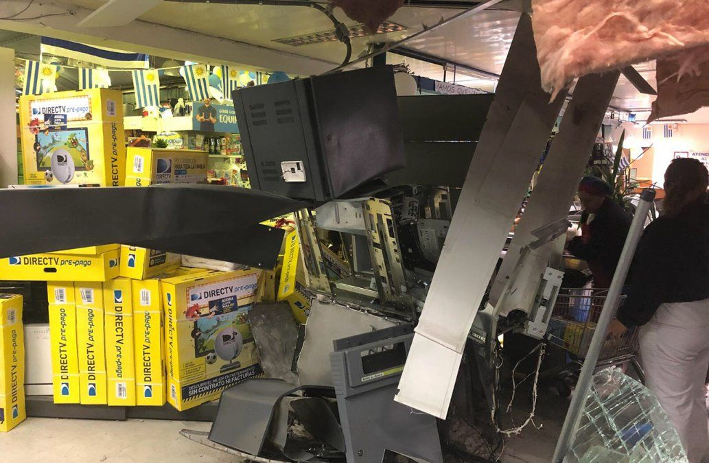 Explotaron otro cajero automático, esta vez dentro de un supermercado