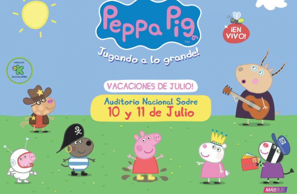 ¡Llega Peppa Pig al  Auditorio Nacional del Sodre para jugar a lo grande!
