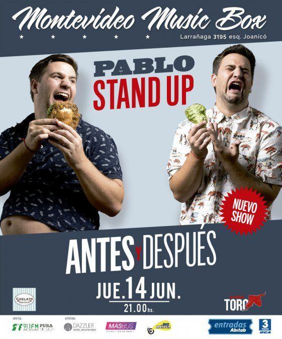 Pablo Stand Up presenta un show 100% renovado