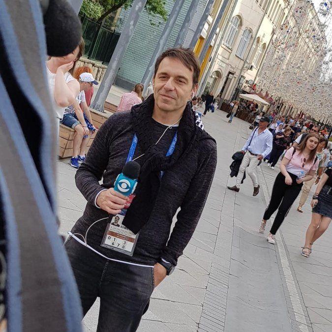 Roberto Moar ya instalado en Rusia junto a Quique Padilla y todo el equipo de Canal 10