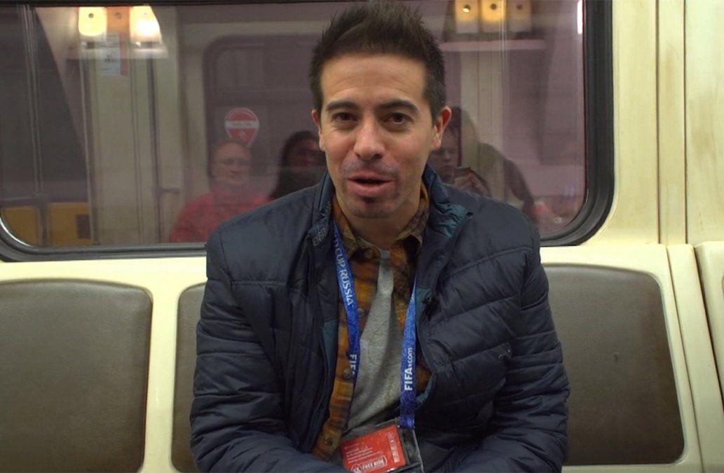 Rafa Cotelo recorrió Moscú en taxi y metro a días del Mundial de Rusia