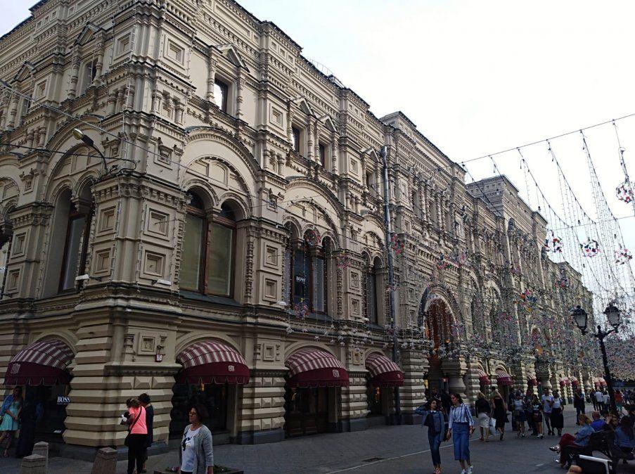 Principales Tiendas Universales (GUM) grandes almacenes creados en la Unión Soviética