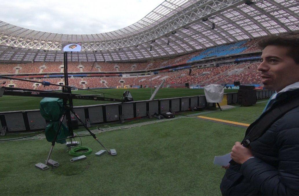 Rafa Cotelo ya pisó la cancha del Estadio Olímpico Luzhnikí en Moscú