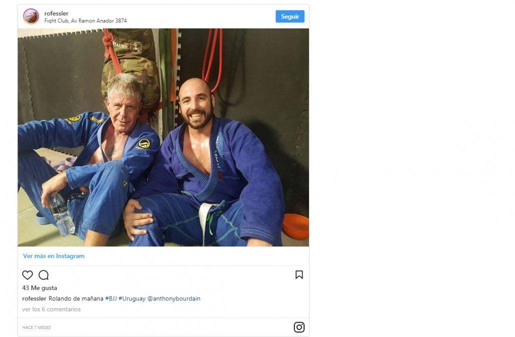 La visita a Uruguay incluyó artes marciales. la foto fue subida a Instagram