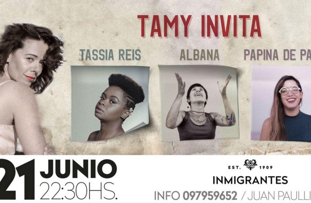 Tamy Invita: Tássia Reis, Papina de Palma y Albana Barrocas