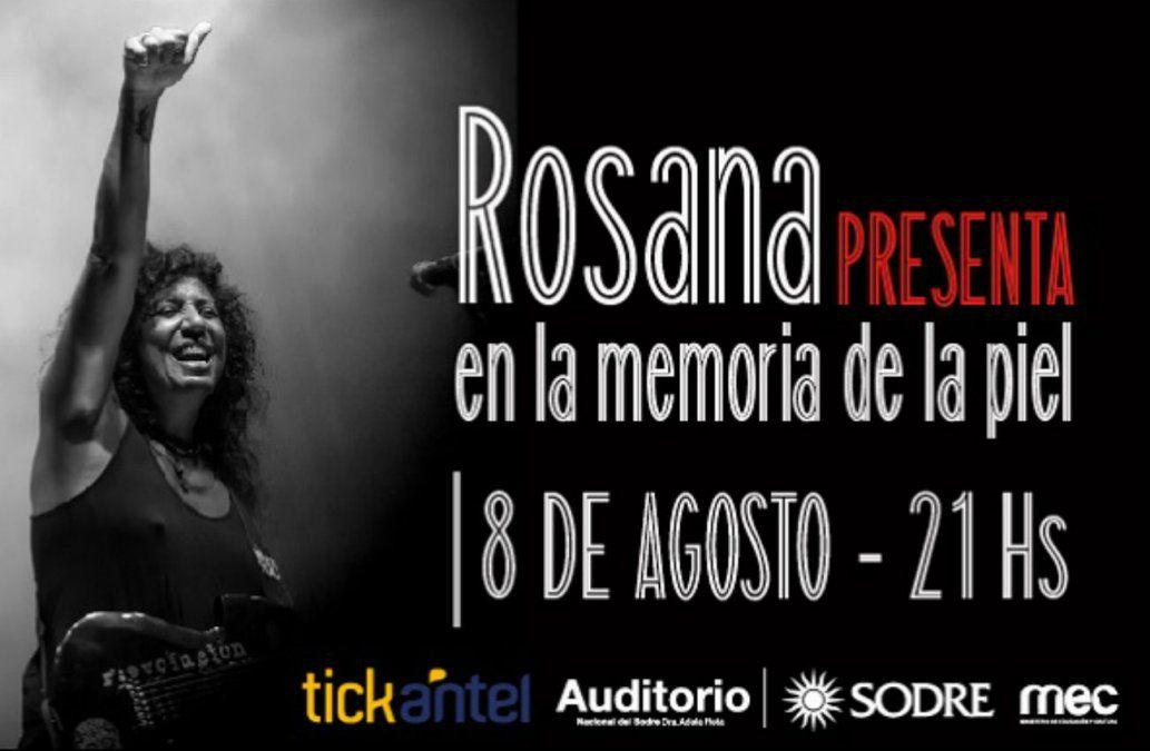 Rosana presenta en Uruguay En la Memoria de la Piel