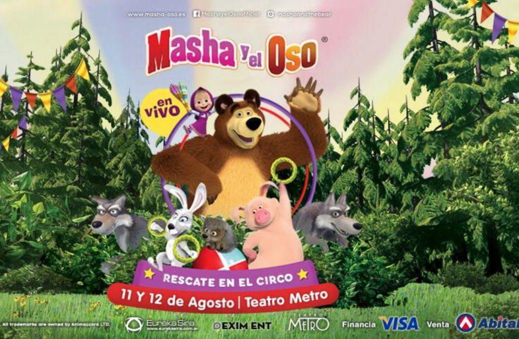 Masha y el Oso llegan en agosto al Teatro Metro
