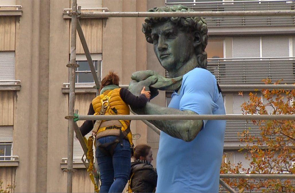 El David de la Intendencia se puso la Celeste para alentar a Uruguay