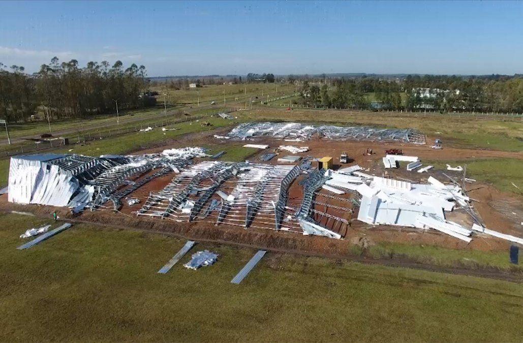 Fuerte granizada dañó cultivos e instalaciones agropecuarias en Salto