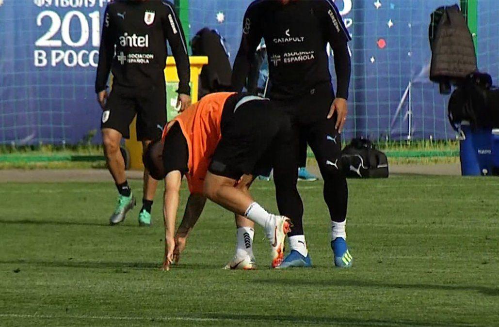 Torreira y Bentancur con alguna molestia tras el primer entrenamiento en Rusia
