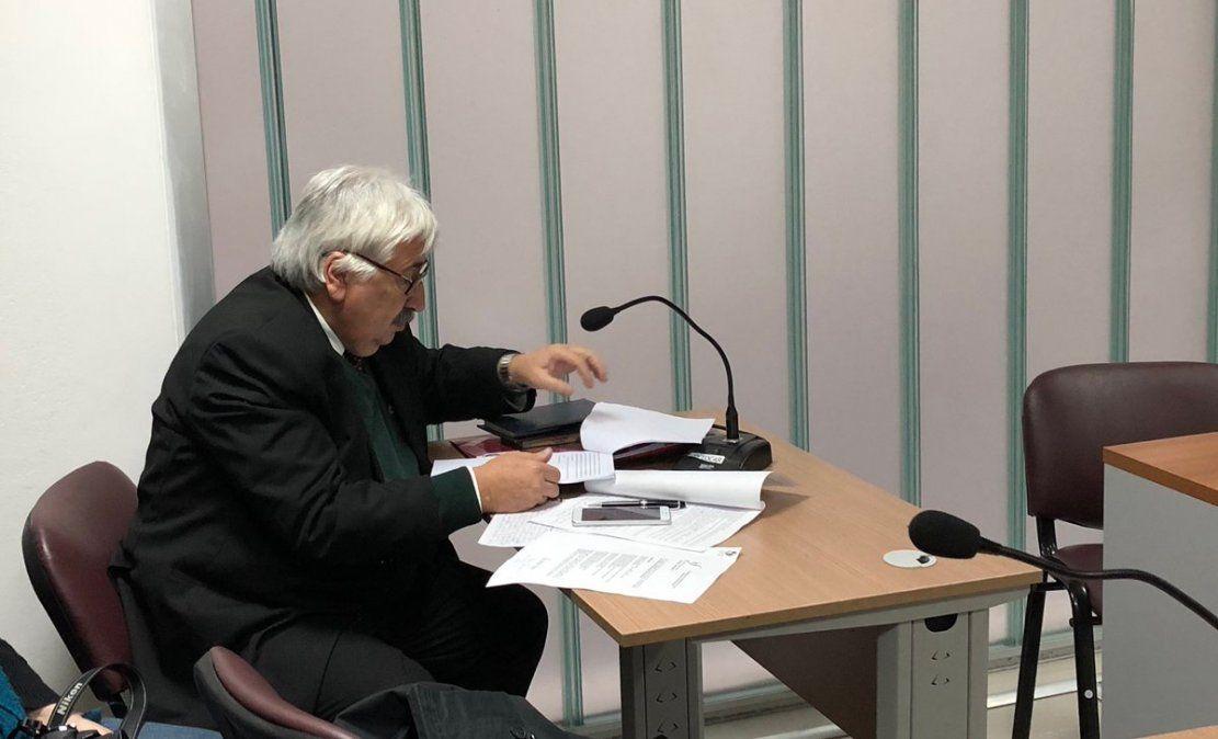 El fiscal Juan Gómez este miércoles solicitando la formalización del padrastro