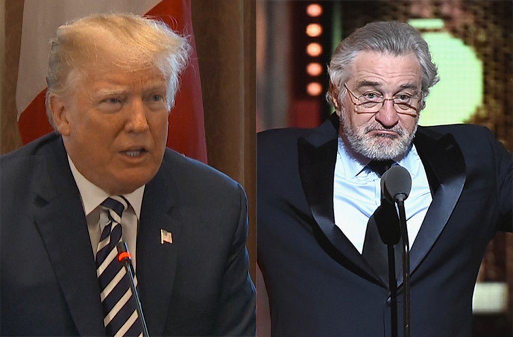 Insultado por De Niro, Trump responde al actor de bajo coeficiente intelectual