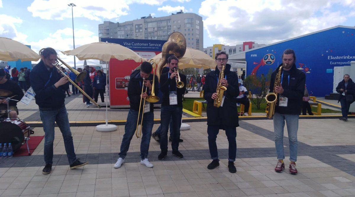 Así se vivió la previa del partido en el estadio de Ekaterimburgo