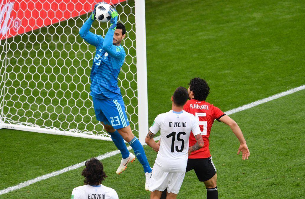 Los mejores momentos de Uruguay-Egipto en imágenes