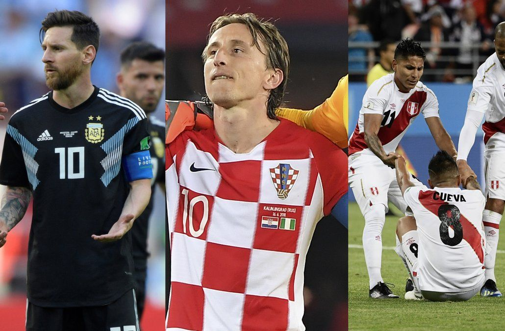 Argentina falla en Grupo D que lidera Croacia; Perú perdió en su regreso a un Mundial