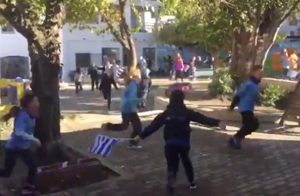 Video: La emoción de los niños de una escuela al ver el gol de Josema