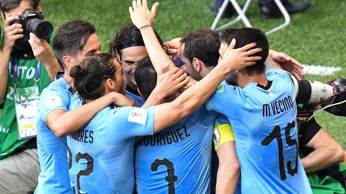 Las mejores imágenes de Uruguay - Arabia y el pasaje a octavos de forma anticipada