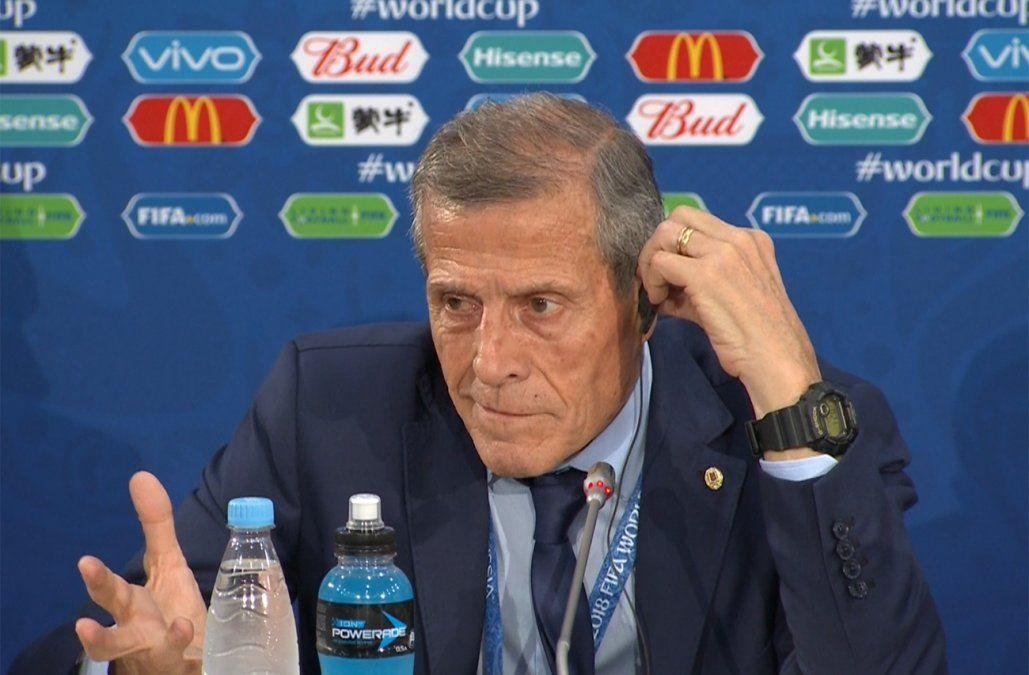 A Tabárez le llamó la atención lo poco que jugó Uruguay en el primer tiempo