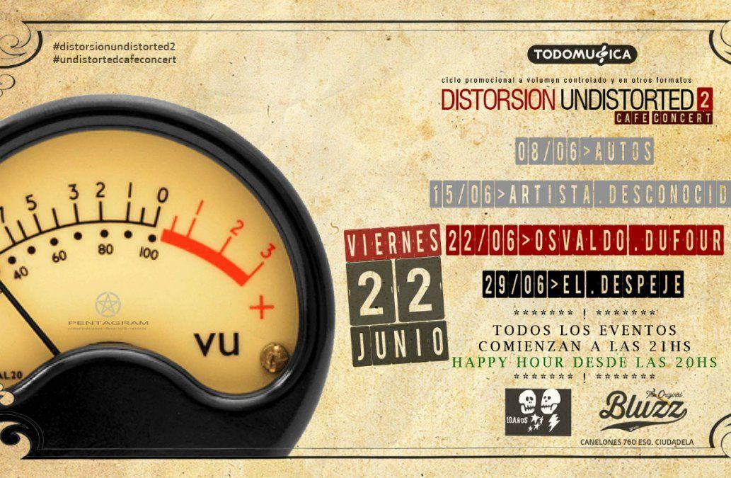 Osvaldo Dufour se presentará en vivo en Bluzz Bar