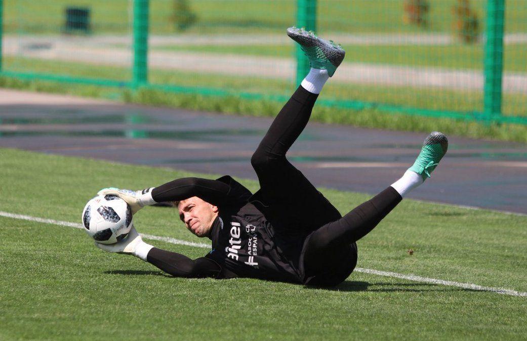 Así fue el entrenamiento de la Celeste a dos días del partido ante Rusia