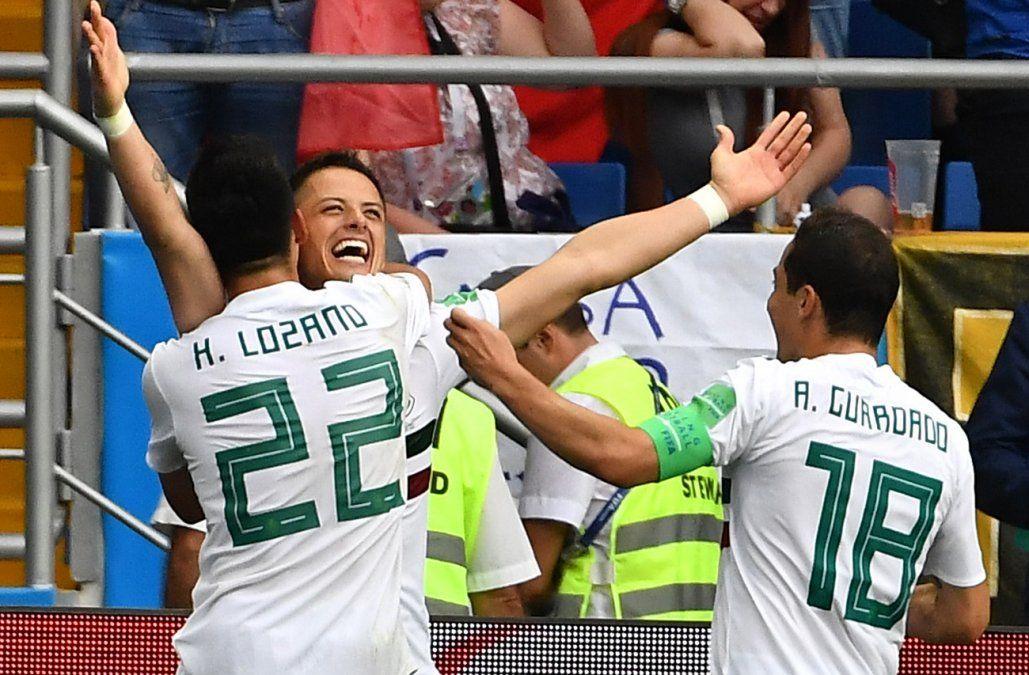 México derrotó 2-1 a Corea del Sur y se acerca a los octavos de Rusia 2018