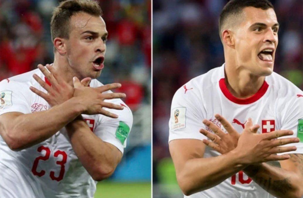FIFA abrió un proceso disciplinario a los suizos Xhaka y Shaqiri