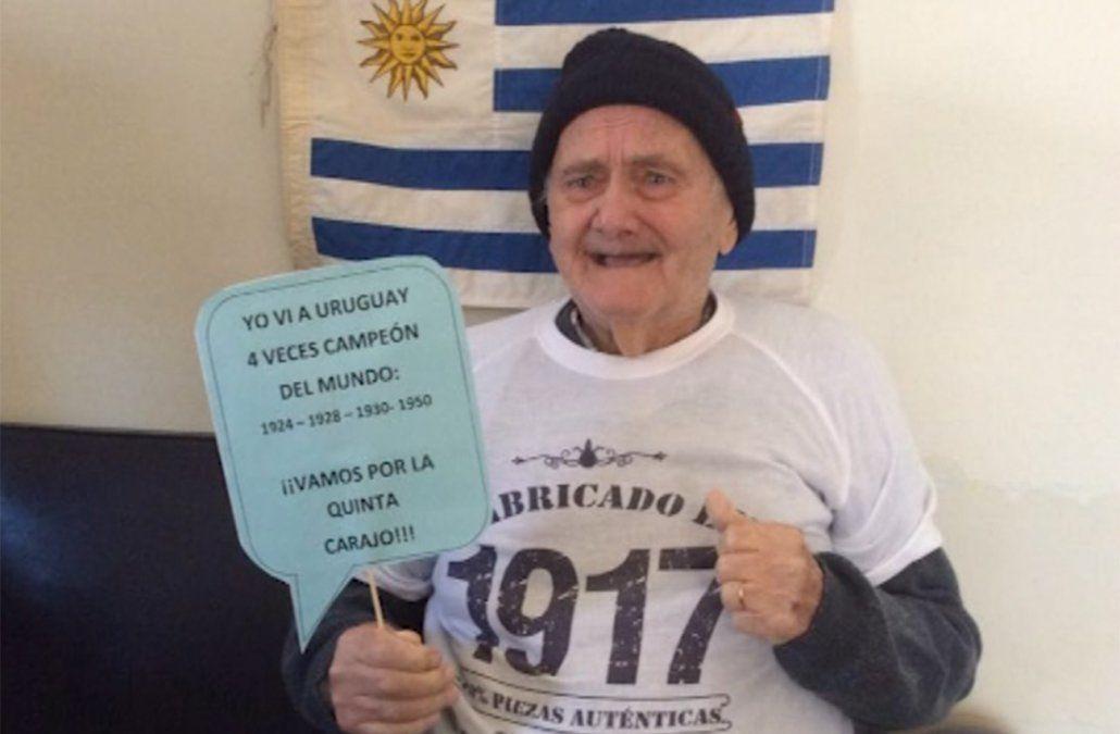 El bisabuelo de 101 años que vio los cuatro campeonatos del mundo de Uruguay