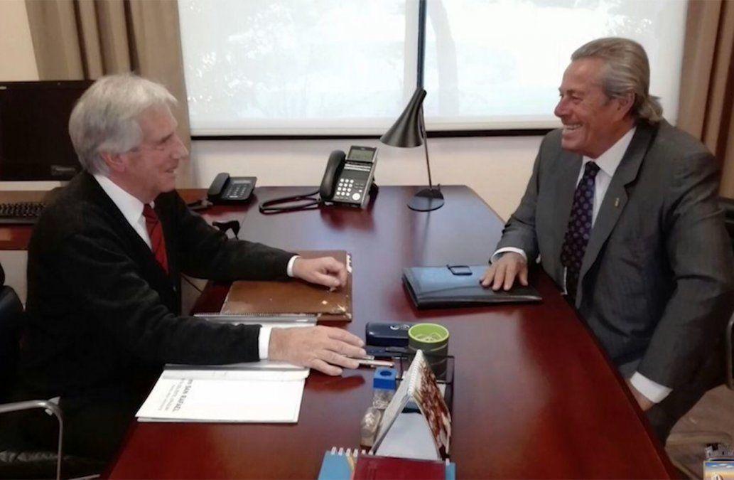 La hermosa reunión que mantuvieron Enrique Antía y Tabaré Vázquez
