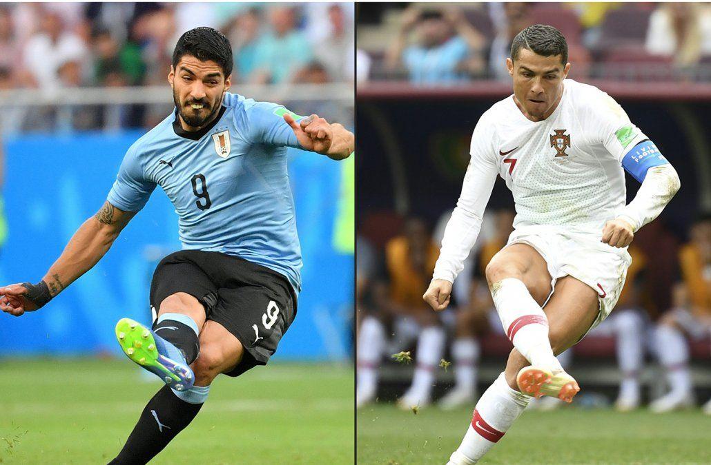 Uruguay elimina a Portugal con dos goles de Cavani