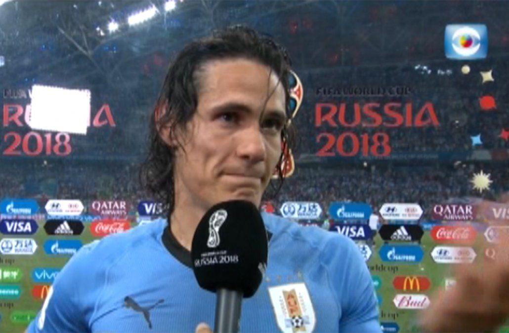 Las lágrimas de Cavani por los goles, el triunfo y las dudas de su lesión