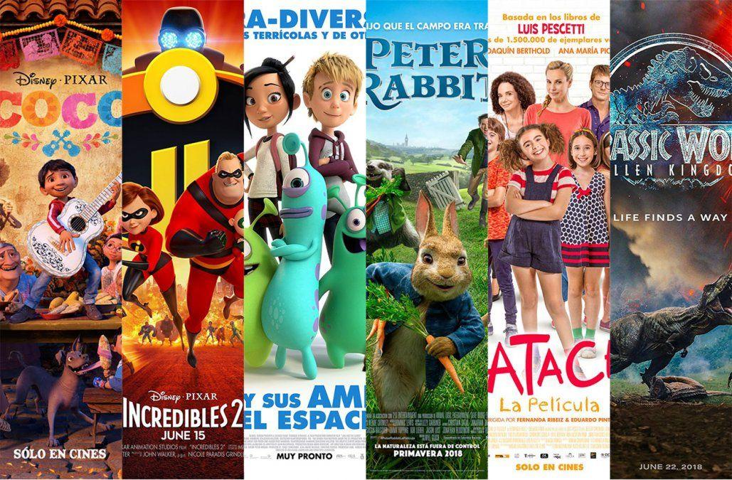 Seis películas en cartelera para llevar a los más chicos al cine