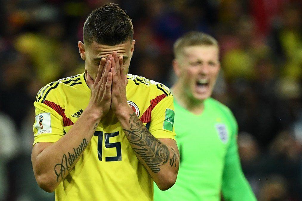 Inglaterra pasó a cuartos tras vencer a Colombia por penales 4-3