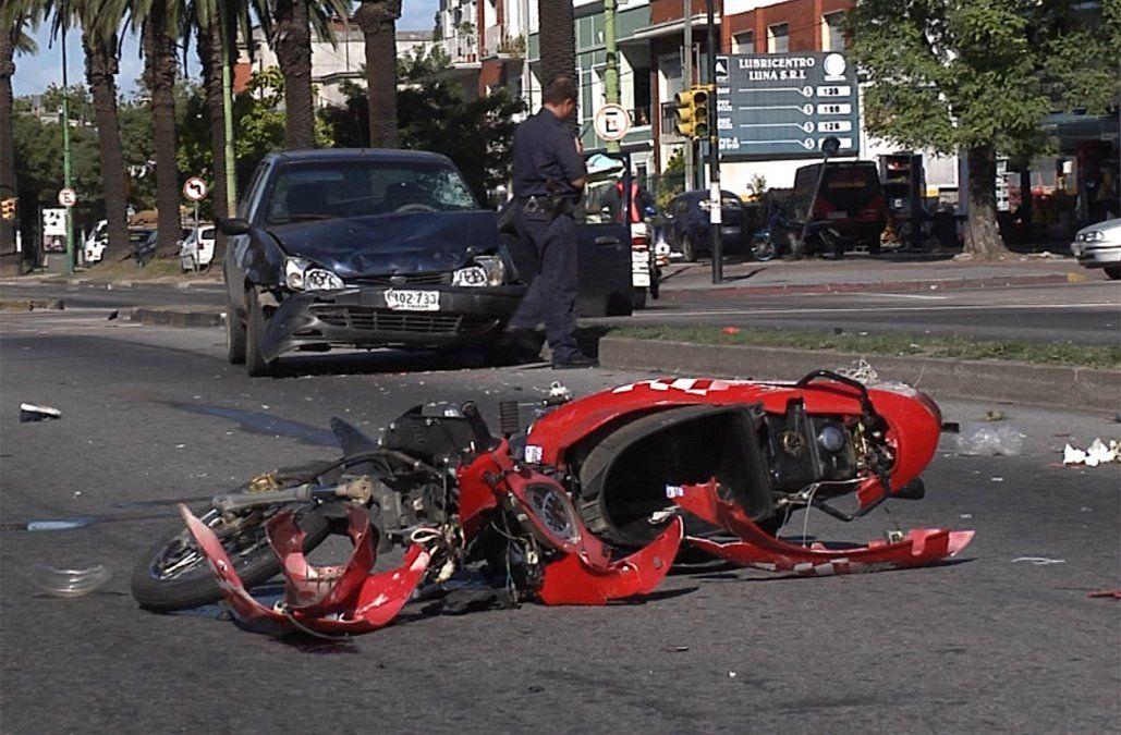 Fallecieron 115 motociclistas en accidentes de tránsito en lo que va del año