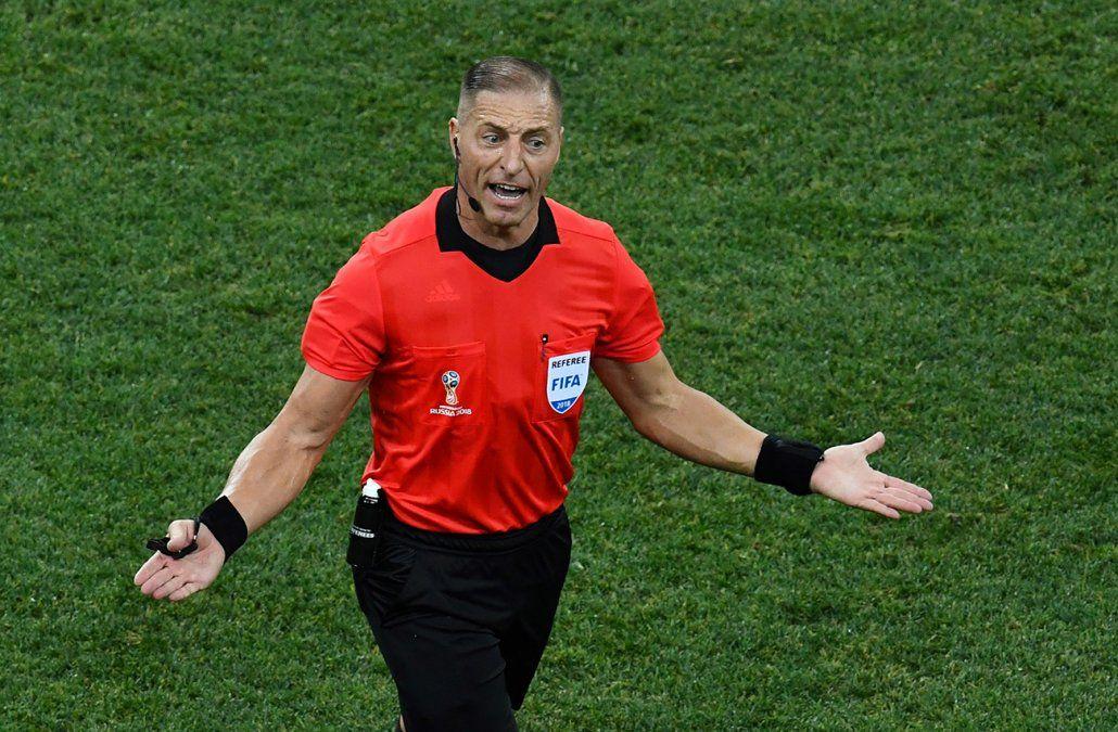 El argentino Pitana será el árbitro de Uruguay-Francia en cuartos de final