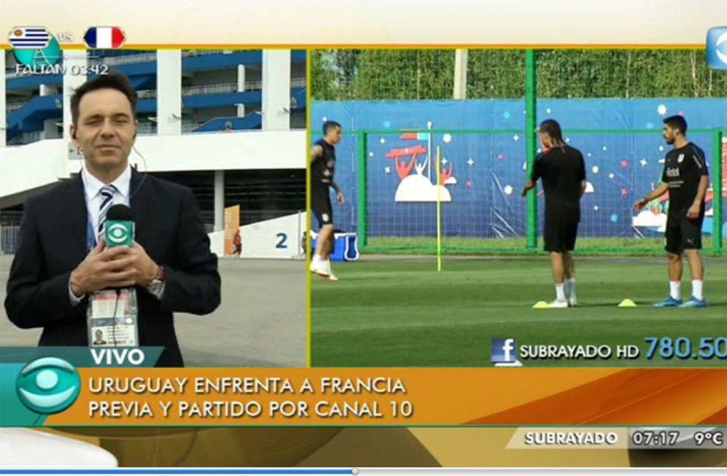 Uruguay-Francia: Stuani será titular y Cavani iría al banco de suplentes