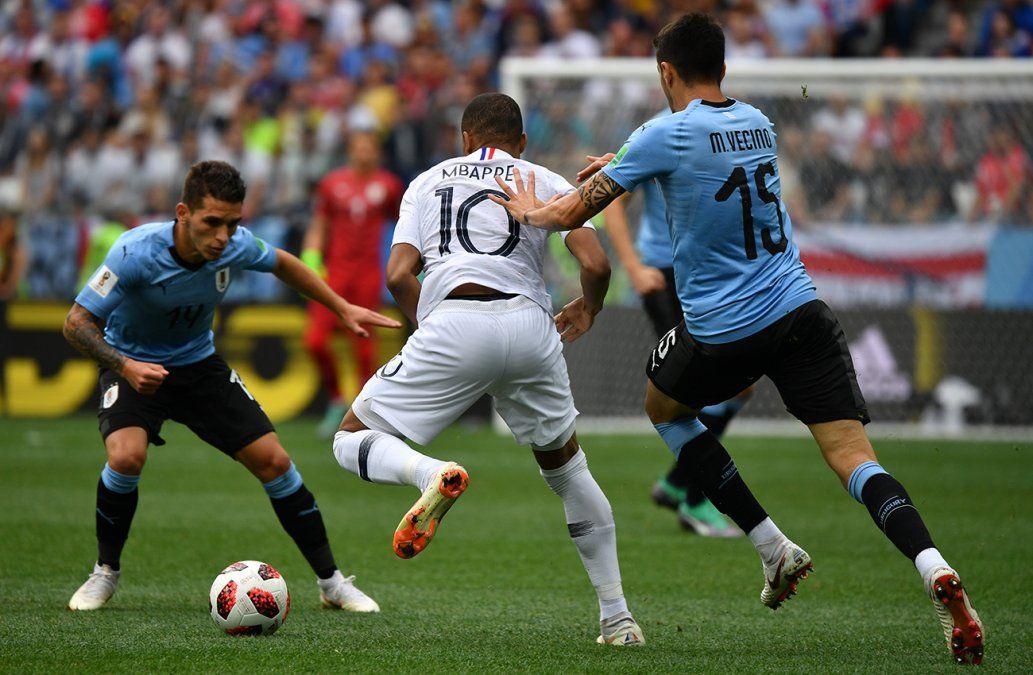 Las mejores imágenes del partido Uruguay - Francia