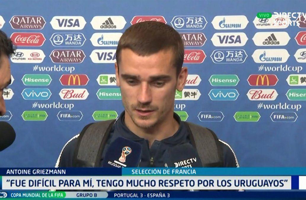 Griezmann no festejó su gol por respeto a mis amigos uruguayos